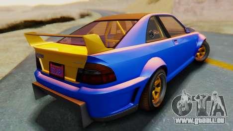 GTA 5 Karin Sultan RS Carbon pour GTA San Andreas laissé vue
