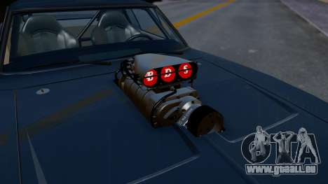 Dodge Charger from FnF4 pour GTA San Andreas vue arrière