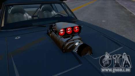 Dodge Charger from FnF4 für GTA San Andreas Rückansicht