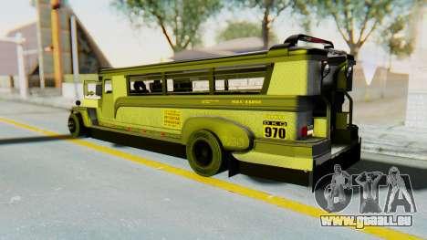 LGS Motors Eggtype Jeepney für GTA San Andreas linke Ansicht