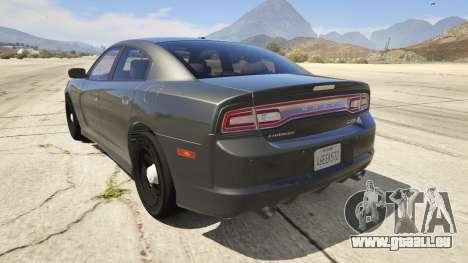 GTA 5 2012 Unmarked Dodge Charger hinten links Seitenansicht