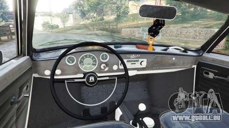 GTA 5 Volkswagen Karmann-Ghia Typ 14 1967 arrière droit vue de côté