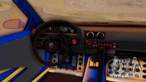 GTA 5 Karin Sultan RS Carbon für GTA San Andreas Rückansicht