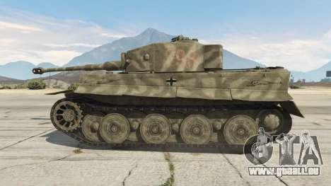 GTA 5 Panzerkampfwagen VI Ausf. E Tiger arrière droit vue de côté