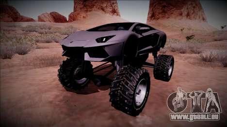 Lamborghini Aventador Monster Truck für GTA San Andreas Unteransicht