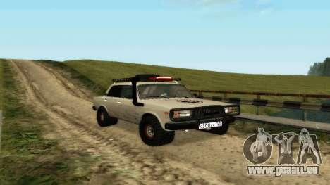 VAZ 2107 4x4 pour GTA San Andreas laissé vue