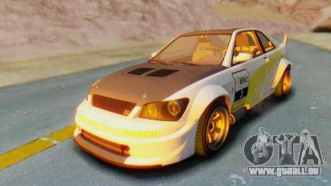 GTA 5 Karin Sultan RS Carbon IVF pour GTA San Andreas vue de dessous