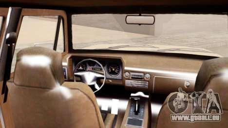 GTA 5 Declasse Rancher XL für GTA San Andreas zurück linke Ansicht