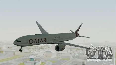 Boeing 777-9x Qatar Airways für GTA San Andreas zurück linke Ansicht