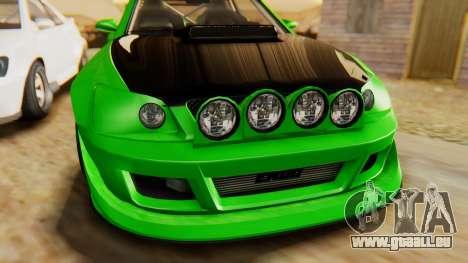 GTA 5 Karin Sultan RS IVF pour GTA San Andreas vue arrière