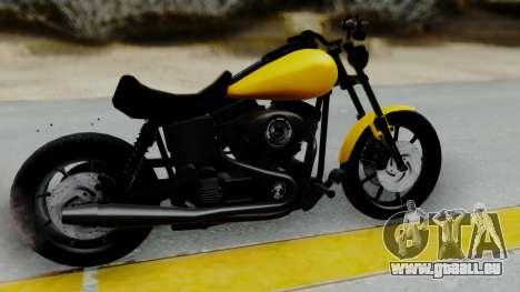 Harley-Davidson Dyna Super Glide T-Sport 1999 für GTA San Andreas zurück linke Ansicht