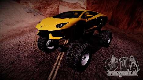 Lamborghini Aventador Monster Truck für GTA San Andreas linke Ansicht