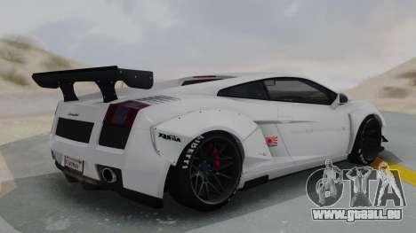 Lamborghini Gallardo 2005 LW LB Performance pour GTA San Andreas sur la vue arrière gauche