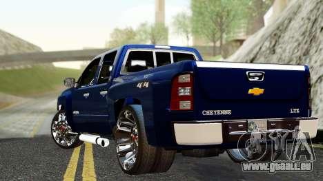Chevrolet Cheyenne 2012 Dually pour GTA San Andreas laissé vue