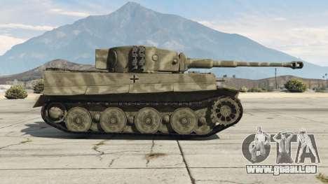 GTA 5 Panzerkampfwagen VI Ausf. E Tiger vue latérale gauche