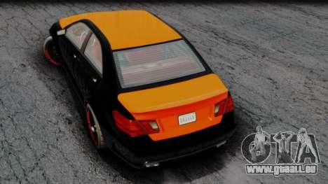 GTA 5 Benefactor Schafter V12 Arm pour GTA San Andreas sur la vue arrière gauche