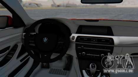 BMW M5 2012 Stance Edition für GTA San Andreas Rückansicht