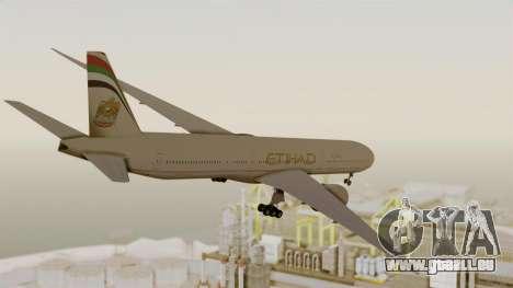 Boeing 777-9x Etihad Airways pour GTA San Andreas vue de droite