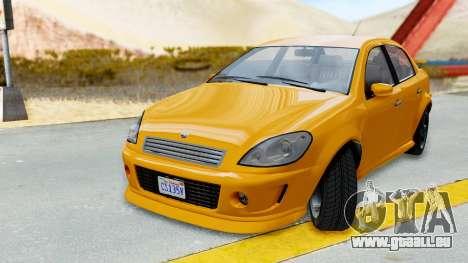 GTA 5 Declasse Premier Coupe für GTA San Andreas zurück linke Ansicht