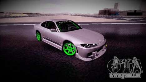 Nissan Silvia S15 Drift Monster Energy für GTA San Andreas Rückansicht