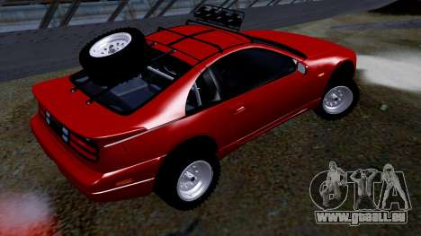 Nissan 300ZX Rusty Rebel pour GTA San Andreas laissé vue