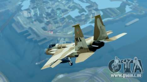McDonnell Douglas F-15E Aggressor Desert pour GTA San Andreas sur la vue arrière gauche