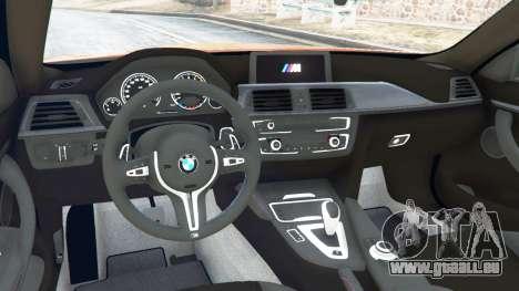 GTA 5 BMW M4 (F82) [LibertyWalk] v1.1 arrière droit vue de côté