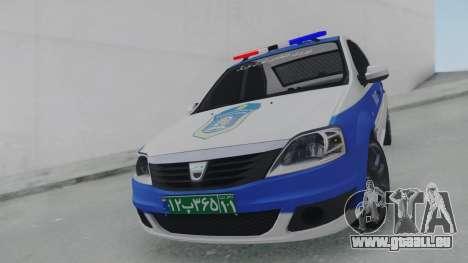 Dacia Logan Iranian Police pour GTA San Andreas vue de droite