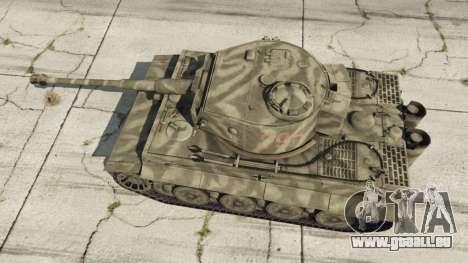 GTA 5 Panzerkampfwagen VI Ausf. E Tiger vue arrière