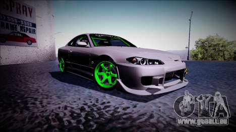 Nissan Silvia S15 Drift Monster Energy für GTA San Andreas rechten Ansicht