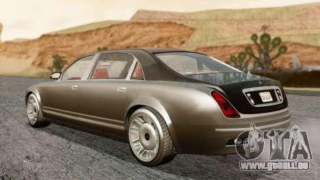 GTA 5 Enus Cognoscenti L IVF pour GTA San Andreas sur la vue arrière gauche