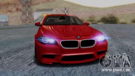 BMW M5 2012 Stance Edition für GTA San Andreas obere Ansicht