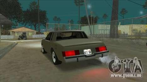 Willard Majestic pour GTA San Andreas sur la vue arrière gauche