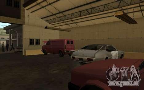 Le garage est situé à les quais pour GTA San Andreas deuxième écran