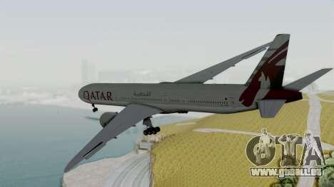 Boeing 777-9x Qatar Airways für GTA San Andreas rechten Ansicht