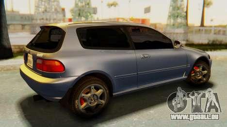 Honda Civic Vti 1994 V1.0 IVF für GTA San Andreas linke Ansicht