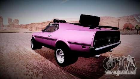 1971 Ford Mustang Rusty Rebel für GTA San Andreas linke Ansicht