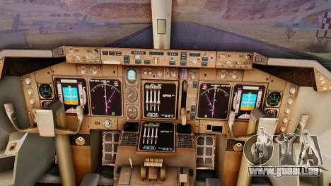Boeing 747-428 Ed Force One für GTA San Andreas Rückansicht