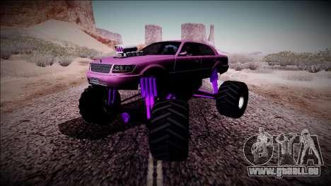 GTA 4 Washington Monster Truck für GTA San Andreas Innenansicht
