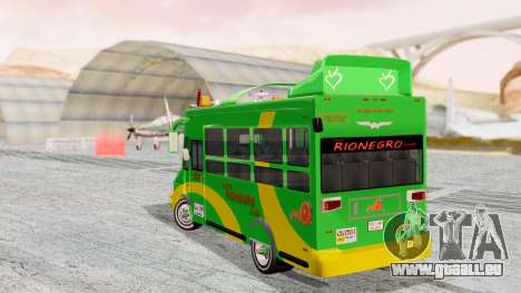Iveco Turbo Daily Buseton v2 Flota Rionegro pour GTA San Andreas laissé vue
