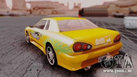 Elegy F&F Supra PJ pour GTA San Andreas laissé vue