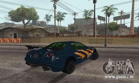 Nissan Skyline R34 Sunray (FlatOut 2) pour GTA San Andreas laissé vue