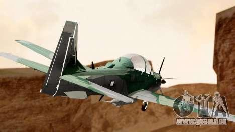 A-29B Embraer Super Tucano pour GTA San Andreas laissé vue