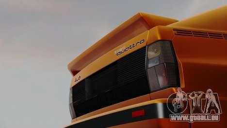 Audi Quattro Coupe 1983 pour GTA San Andreas laissé vue