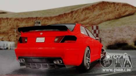 GTA 5 Benefactor Schafter V12 IVF pour GTA San Andreas laissé vue