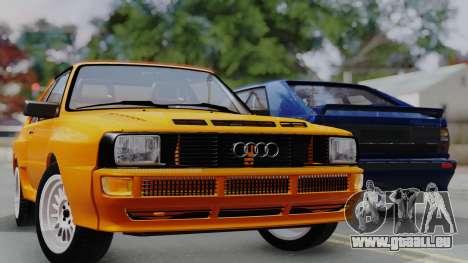 Audi Quattro Coupe 1983 für GTA San Andreas Unteransicht