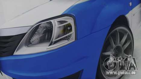 Dacia Logan Iranian Police pour GTA San Andreas vue arrière