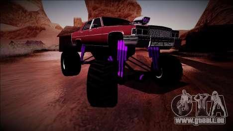 GTA 4 Emperor Monster Truck für GTA San Andreas Rückansicht