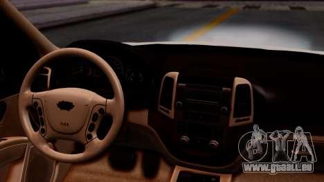 Hyundai Santa Fe pour GTA San Andreas vue arrière