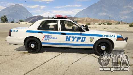 GTA 5 NYPD Ford CVPI HD linke Seitenansicht